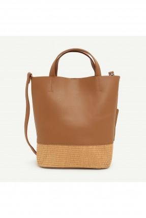 حقيبة يد نسائية مزينة بقش من الاسفل