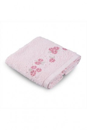 منشفة يد منقوشة ورد