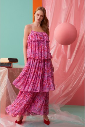 فستان رسمي طويل مورد