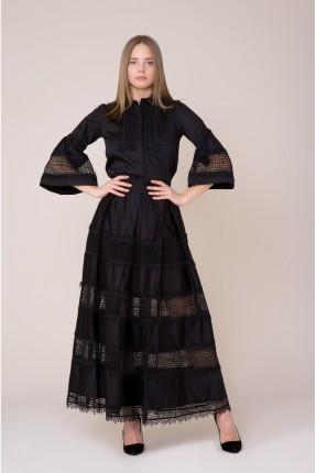 فستان سبور طويل باكمام عريضة