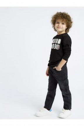 بنطال جينز اطفال ولادي سادة