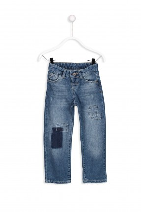 بنطال جينز اطفال ولادي مع جيوب بلونين