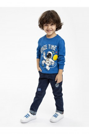 بنطال جينز اطفال ولادي مع طبعات فضائية