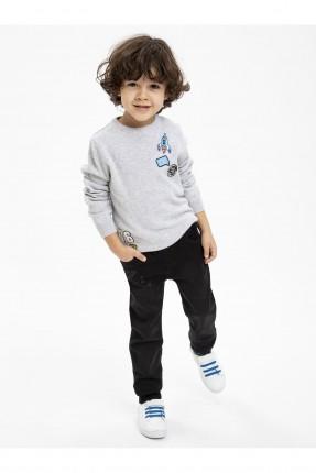 بنطال جينز اطفال ولادي مع طبعة كوكب