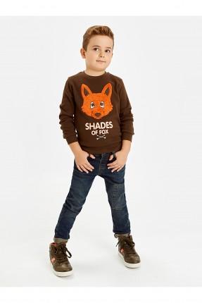 بنطال جينز اطفال ولادي مزين برقعة