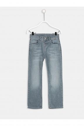 بنطال جينز اطفال ولادي مزين بكحتة