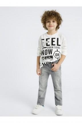 بنطال جينز اطفال ولادي منقط
