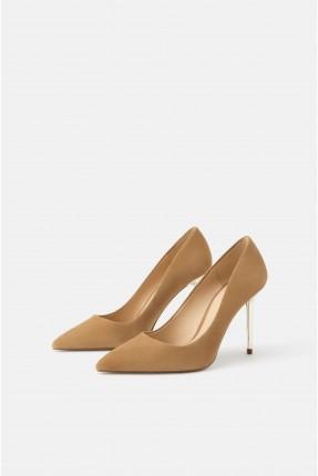 حذاء نسائي جلد بكعب عالي