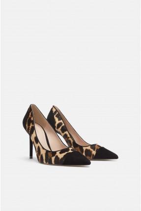 حذاء نسائي جلد النمر