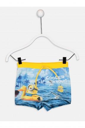 بوكسر سباحة اطفال ولادي مع طبعة مينون