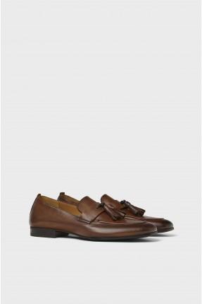 حذاء رجالي جلد مع الشراشيب