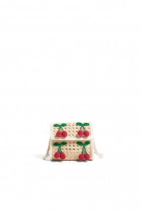 حقيبة يد اطفال بناتية مزينة بحبات الكرز