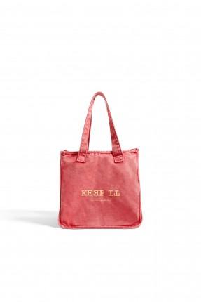 حقيبة يد اطفال بناتية مع طبعة كتابة