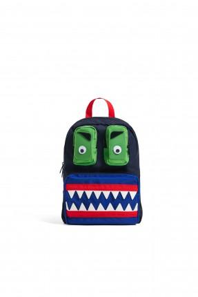 حقيبة ظهر مدرسية اطفال ولادي مزينة بوجه