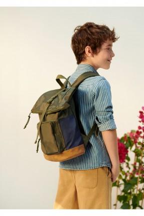 حقيبة ظهر مدرسية اطفال ولادي بجيب نافر