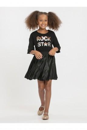 فستان اطفال بناتي مع طبعة كتابة