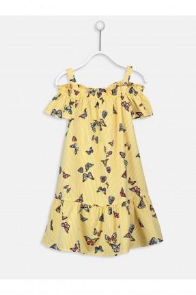 فستان اطفال بناتي مزين بالفراشات