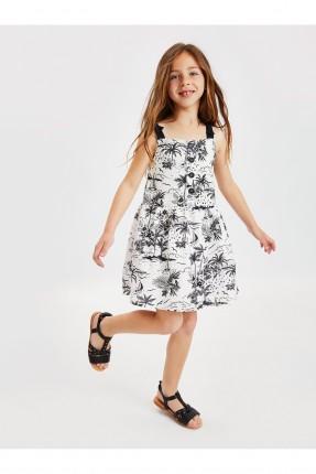 فستان اطفال بناتي مزين برسمات