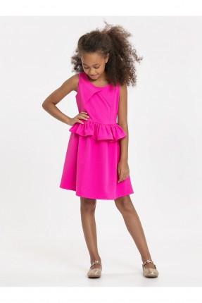 فستان اطفال بناتي مع كشكش على الخصر
