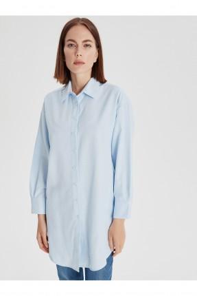 قميص نسائي طويل سادة