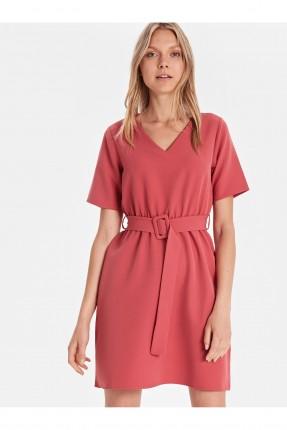 فستان سبور قصير بياقة V