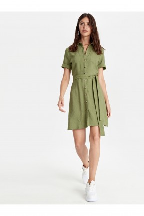فستان سبور قصير بازرار امامية