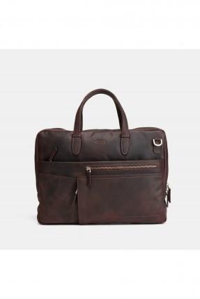 حقيبة يد رجالية جلد بسحاب