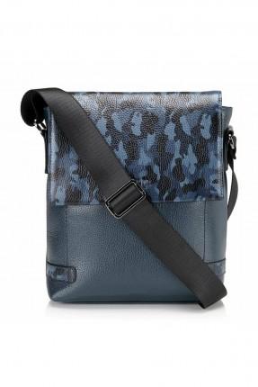 حقيبة يد رجالية جلد مموهة