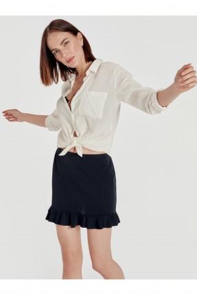 تنورة قصيرة كشكش