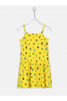 فستان اطفال بناتي مزين بثمار الصبار