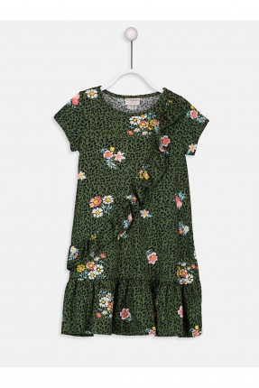 فستان اطفال بناتي مزين بالورد