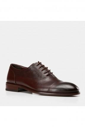 حذاء رجالي جلد بنقشة ثقوب على الجوانب