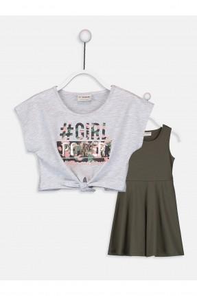 فستان اطفال بناتي مع تيشرت
