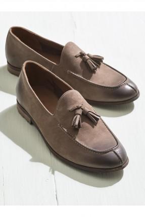 حذاء رجالي كلاسيكي مزين بفيونكة امامية