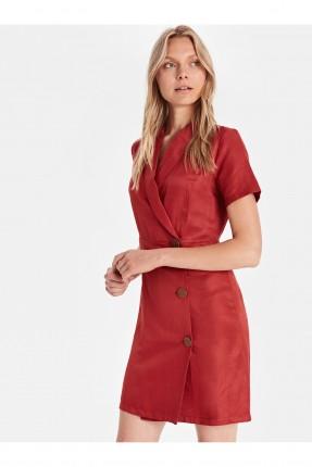 فستان سبور قصير بازرار جانبية