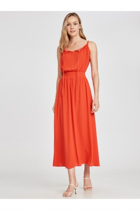 فستان سبور طويل بخصر مطاط