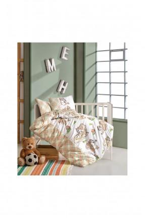 طقم غطاء سرير بيبي كاروهات
