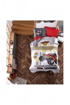 طقم غطاء سرير فردي مبطن برسمة دراجة