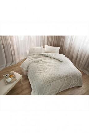 طقم غطاء سرير عرائسي مزخرف ورد