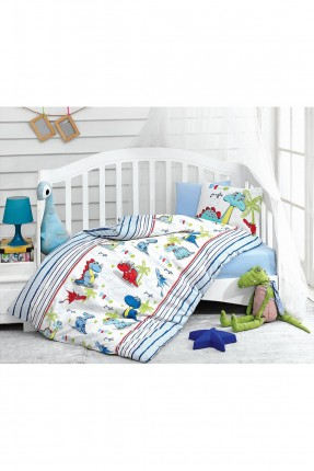 طقم غطاء سرير بيبي مزين برسمة دنياصورات