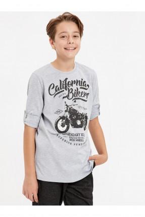 كنزة اطفال ولادي مع طبعة دراجة نارية