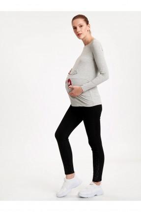 بنطال حمل جينز بجيوب خلفية