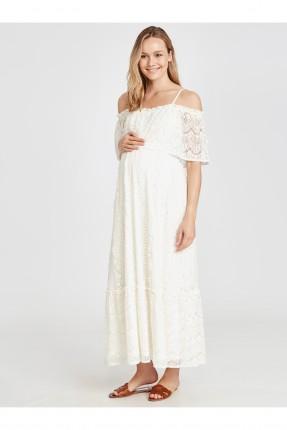فستان سبور حمل طويل دانتيل
