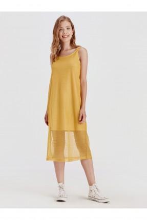 فستان سبور طويل بدون اكمام