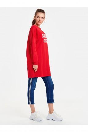 بنطال نسائي جينز بخطوط جانبية