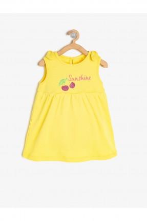فستان بيبي بناتي برسمة كرز