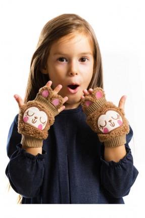 قفازات اطفال بناتي مزين برسومات