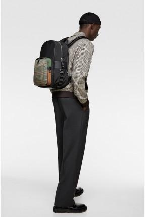 حقيبة ظهر رجالي بنقشة كاروهات