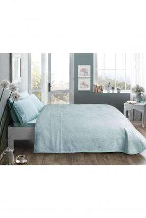 طقم بطانية سرير فردي مزخرف ورق شجر