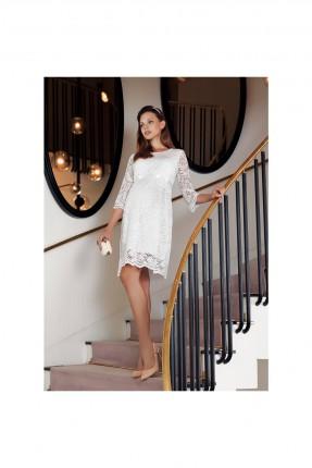 فستان رسمي حمل قصير دانتيل